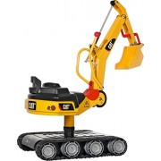 Rolly Toys CAT Construction Ride-On: Metal 360-Degree Excavator Digger with Traction Treads, Youth Ages 3+