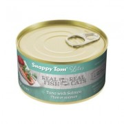 Snappy Tom Lites Tuna with Salmon Canned Cat Food, 3-oz can, case of 24