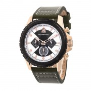 Morphic M57 Series Chronograph Leather-Band Watch - Rose Gold/Olive MPH5706