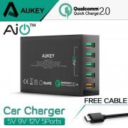 Бързо зарядно за мобилни телефони и таблети 5 в 1 AuKey USB Charger 2.0