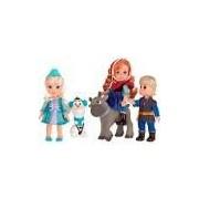 Boneco Turma Frozen Sunny Brinquedos 5 Bonecos