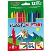 Creioane ALPINO cerate din plastic cutie carton 12 culori-cutie