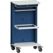 ANKE Laptop- / Gerätewagen mit Laptopfach, Hängeregistratur grau / blau