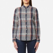 GANT Women's Twill Flannel Check Slim Shirt - Cream - M - Cream