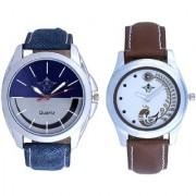 Silver-Blue Smiley Colour And Brown Peacock Feathers Girls Analogue Watch By Ganesha Exim