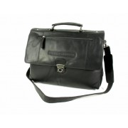 Chesterfield Aktetas Business tas JACK wax pull up Zwart