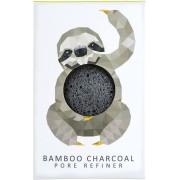 The Konjac Sponge Company Rainforest Sloth Mini Face Puff with Bamboo Charcoal - 1 Stk
