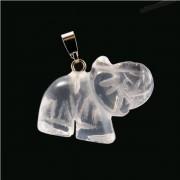 Elefánt figuramedál - Hegyikristály