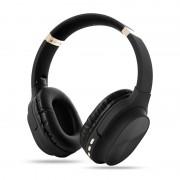 Foldable Bluetooth Earphone Wireless Headset 800mAh Large Capacity Battery Bass Sound - Black