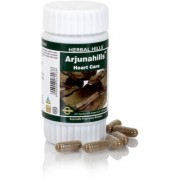Herbal Hills Ayurvedic Arjuna (Terminalia arjuna) Powder and Extract blend - 60 capsule 500mg