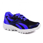 Shooz Mens Black And Blue Lace-up Training Shoes