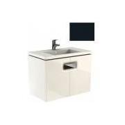 Mobilier pentru lavoar Kolo Twins cu doua usi, 80 cm negru mat -89549000