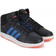 ADIDAS NEO HOOPS VS MID Mid Ankle Sneakers For Men(Black)