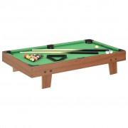 vidaXL barna és zöld mini biliárdasztal 92 x 52 x 19 cm
