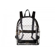 Rampage Clear Quilted Dome Backpack Black
