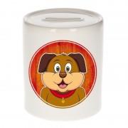 Bellatio Decorations Dieren spaarpot hond voor kinderen 9 cm