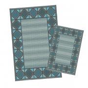 Korhani Lincoln Outdoorteppich-Set 160x213 cm + 80x112 cm Blau Dunkelgrau Mehrfarbig
