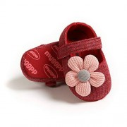 Tuoting Infant Baby Girl Shoes, Flower Baby Mary Jane Flats Princess Dress Shoes Soft Baby Crib Shoes