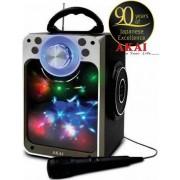 Boxa Portabila Akai CEU7300-BT, Bluetooth, Radio FM, Microfon (Negru)