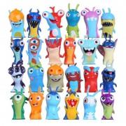 24pcs / Lot Slugterra Cartoon Movie Game App Figurines D'action Enfants Toy Mini Slugterra Anime Figurines Jouets Doll Slugs Children Gifts