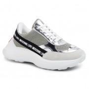 Сникърси LOVE MOSCHINO - JA15086G1AIO210A Bia/Arge/Perla