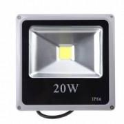 Proiector LED SMD 20W Economic Slim 6500K Lumina Rece 220V de Interior si Exterior Rezistent la Apa IP66 Iluminare pt Ca
