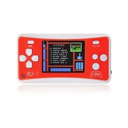 "E-MODS GAMING 2.5"" Handheld Game Console w/ Speaker / Built-in 162 Games - Red + White"