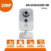 English Version HIK WiFi Camera DS-2CD2420F-IW 1080P Wi-Fi Home Security Camera 2MP IR Cube Network CCTV Cam Baby OEM IPC3412-W