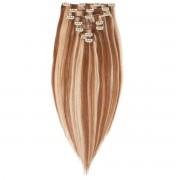 Rapunzel® Hair extensions Clip-on Set Original 7 pieces M5.4/7.8 Strawberry Brown Mix 50 cm