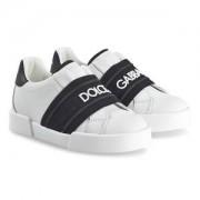 Dolce & Gabbana Logo Sneakers Vit/Svart Barnskor 33 (UK 1)