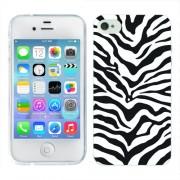 Husa iPhone 4S Silicon Gel Tpu Model Animal Print Zebra
