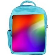 Snoogg Eco Friendly Canvas Multicolor Pattern Design Designer Backpack Rucksack School Travel Unisex Casual Canvas Bag Bookbag Satchel 5 L Backpack(Blue)