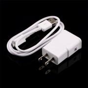 ER Enchufe De EE.UU. + Cargador De Pared USB Cable De Datos Para Samsung Galaxy Nota N71002 II S4 S3 -Blanco