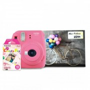 Instax mini 9 + 10 films + album - rosado