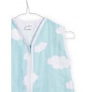 Sac de dormit din jerseu verde cu norisori Jollein 70 cm