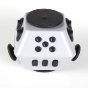 HakkaDeal Stress Relief Magic Cuadrado dedo Gyro Toy - Gris