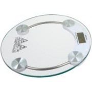 Rorian Personal Health Human Body Weight Machine Digital (2003A) Round Glass Weighing Scale(White)