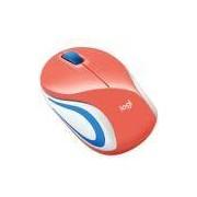 Mini Mouse Logitech M187 Sem Fio Coral 1000DPI