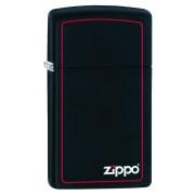 Bricheta Zippo Black Matte/Red Border Slim