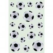 Merkloos 54x Zwart/witte voetbal stickertjes voor kinderen