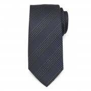 Black tie with grid pattern 9794