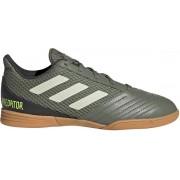 adidas Predator 19.4 IN Sala Sportschoenen - Maat 34 - Unisex - olijfgroen/beige