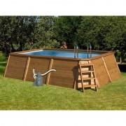 K2O - Piscina retangular de madeira com painéis 490 x 293 x 110 cm - K2O