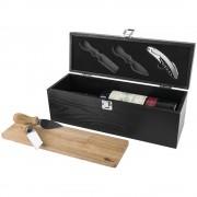 Cutie de vin cu accesorii vin si branzeturi incluse, Paul Bocuse by AleXer, MO, lemn si otel inoxidabil, breloc inclus
