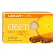 Sapun crema ecologic cu scortisoara si portocala 100gr