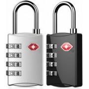 Manki Fashion 331-TSA Approved Lock 3 Digit for USA Number Locks Padlock for Luggage Bag Travelling International Password Locks Combination Lock Travel Locks (2 PC) Safety Lock(Multicolor)