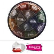 ADS 12 Color Shimmer Eyeshadow With Free Adbeni Kajal Worth Rs.125/