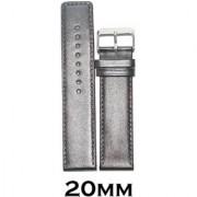 Kolet 20mm Plain Parallel Leather Watch Strap (Dark Marron)
