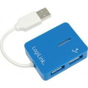 Hub Logilink UA0136, 4 porturi,USB 2.0, Blue