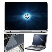 FineArts Laptop Skin HP Rays With Screen Guard and Key Protector - Size 15.6 inch